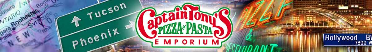 Captain Tony's Pizza Franchise Banner 1