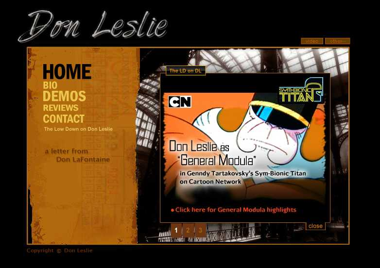 Don Leslie Actor Sym-Bionic Titan