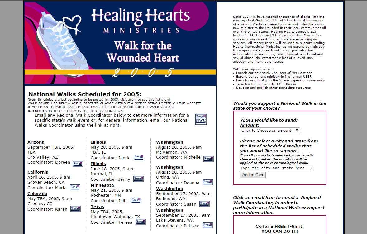 Healing Hearts Ministries Walkathon