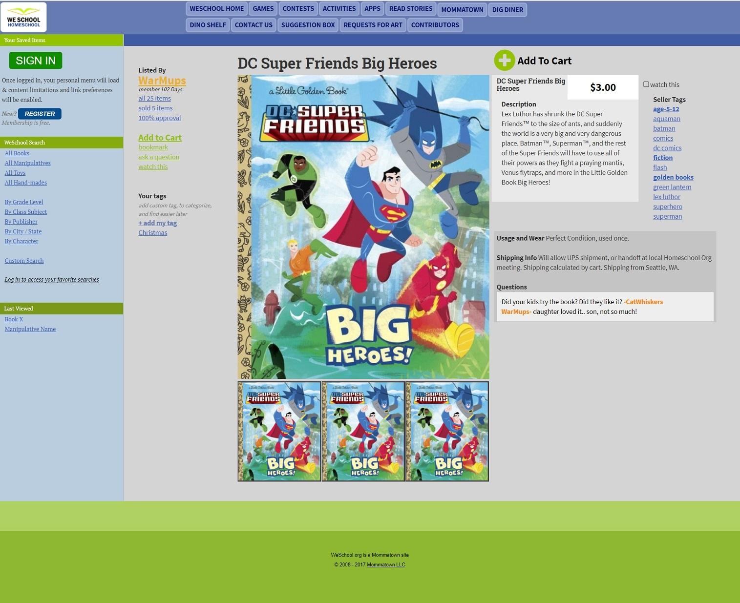 WeSchool Homeschool Book Shopping